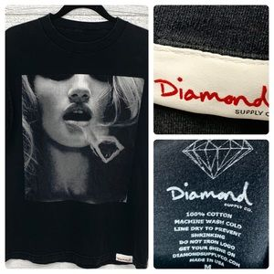 Diamond Supply Co Smoke Rings Graphic Tee size M